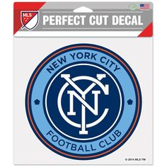 "New York City FC WinCraft 8"" x 8"" Perfect Cut Decal"
