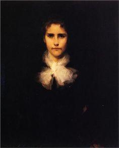 Mary Turner Austin - John Singer Sargent. Portrait. Realism,1880. Gallery: Wadsworth Atheneum, Hartford, CT, USA.