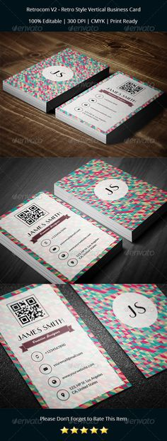 Retro Style Vertical Business Card Print PSD Templates | Buy and Download: http://graphicriver.net/item/retrocom-v2-retro-style-vertical-business-card/8252386?WT.ac=category_thumb&WT.z_author=psdstorm&ref=ksioks