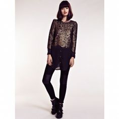 Bluza Gold Glamour, Fashion Outfits, Lace, Long Sleeve, Sleeves, Women, Style, Swag, Fashion Suits