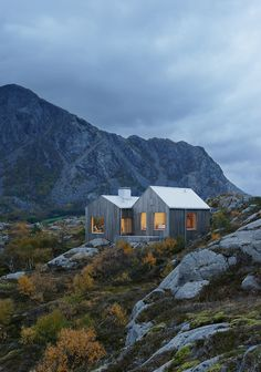 "Vega Cottage by Kolman Boye Architects references weathered Norwegian boathouses. ""We have aimed to build a contemporary Naust with an unpretentious presence and a distinctive character, developing themes from the vernacular architecture. Architecture Design, Cabinet D Architecture, Architecture Wallpaper, Timber Architecture, Minimal Architecture, Vernacular Architecture, Architecture Interiors, Modern Tiny House, Tiny House Design"