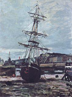 1868 - Gestrandetes Boot in Fecamp - Claude Monet