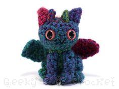 Dragon Amigurumi Crocheted Toy Plush by GeekyCuteCrochet on Etsy