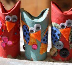 Cute Paper Roll Owl Craft