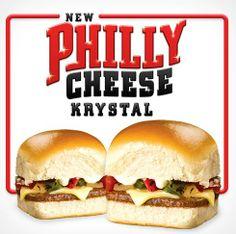 Philly Cheese Krystal Krystal Restaurant, Fast Casual Restaurant, Casual Restaurants, Appetizer Sandwiches, Appetizers, Philly Cheese, Chicken Sandwich, Food Reviews, Burgers