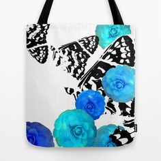 Camellia+Aire+Tote+Bag+by+Vikki+Salmela+-+$22.00 #tote #bags #butterfly #popart #flower #camellia #graphic #art #society6 #shopping