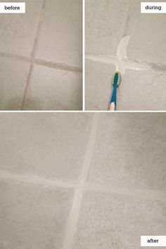 how to clean grout - of course this floor has large tilesi have