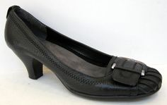 Aerosoles 'Wisecrack' Black Leather Pump Size 6M #Aerosoles #PumpsClassics