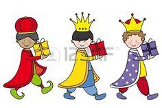 Three Kings Stock Vector Illustration And Royalty Free Three Kings Clipart Watercolor Christmas Cards, Royalty Free Images, Third, Christmas Crafts, Clip Art, Reyes, King, Comics, Fictional Characters