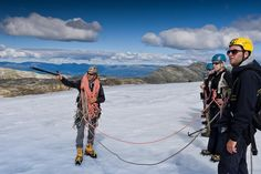 Guided glacier #hike at the #Folgefonna Glacier, Hardangerfjord, Norway.