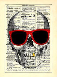 Sunglasses Skull Home Kitchen Nursery Bath Office by StayGoldMedia