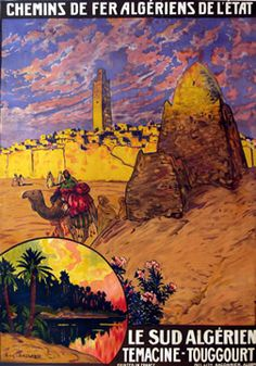 Deshayes, Eugene  Le Sud Algerien, Chemin de Fer Algeriens de l'Etat, 1925