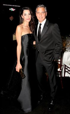 Pin for Later: 12 Times George and Amal Clooney Were the Most Stylish Couple on the Planet When They Both Rocked All-Black Looks Never underestimate the power of the classics. Amal Alamuddin Style, George Clooney Amal Alamuddin, Celebrity Couples, Celebrity Style, Hollywood Couples, Hollywood Celebrities, Celebrity Gossip, George Clooney Wedding, All Black Looks