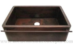 CopperSinks.COM : Copper Kitchen Sink With Towel Bar Model: AL-65-20 - this is the one