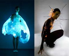 """Philips recently presented two prototypes from their SKIN project. """"Frison"""" contains LEDs which responds to breath and air movement upon the body. """"Bubelle"""" senses emotive information, and reacts differently to each individual."""