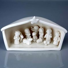 "No tiny miracle.  This ""MINI CERAMIC NATIVITY SET"" features 12 pieces and is 5"" x 8"".  Please contact us for pricing.  #ChristmasDecor"