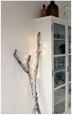 Kerst - tak met lampjes