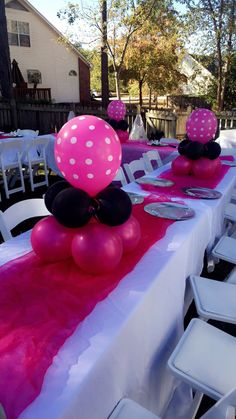 Mini Mouse Party Idea Table Decoration Ideas Baby Shower Birthday