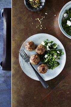 I Quit Sugar - Beef, Pea + Zucchini Meatballs recipe.