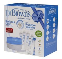 This Dr Brown's Newborn Gift Set is the perfect prize if you're expecting a baby or know someone who is. Complete with Microwave steriliser with tongs, 3 x 240ml bottles, 2 x 120ml bottles, 2… View Post