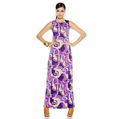 Nikki Poulos Printed Jersey Maxi Dress www.nikkipoulos.com http://www.hsn.com/products/nikki-poulos-printed-jersey-maxi-dress/7234885