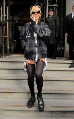 Rihanna Grunge Look - Creepers Shoes (7)
