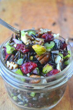 Healthy, vegan and gluten free wild rice salad