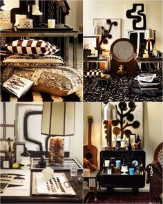 Malene Birger's decor line Birger 1962 launched earlier this month and the line is very true to her personal decor style - ethnic, . Wild Style, Malene Birger, Black And White Design, Marrakech, Decor Styles, Product Launch, Living Room, Interiors, House