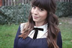 What I Wore: Francesca Contrast Collar Shift Dress with Lace Yoke and Bow Detail
