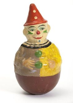 Rolly Dolly Clown, ancien culbuto - Schoenhut and Co - Etats-Unis, années 20