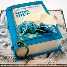 This <i>Moby Dick</i> cake would make a splash at any event.