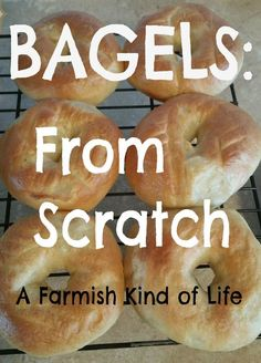 What& better than bagels? Bagels made from scratch. It only takes two hours and you can learn how at A Farmish Kind of Life! Whats better than bagels? Bagels made from scratch. It only takes two hours and you can learn how at A Farmish Kind of Life! Bread Recipes, Real Food Recipes, Cooking Recipes, Yummy Food, Fast Recipes, What's Cooking, Tasty, How To Make Bagels, How To Make Bread