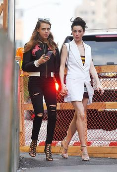 Cara Delevingne and Annie Clark out in New York - 08.06.15
