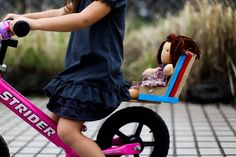 making a bike seat for your child's bike. Now Knuffle Bunny can go for rides with Samuel, woot!