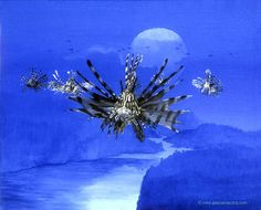 CALYPSO NOW - oil on canvas by Pascal Lecocq, The Painter of Blue ®, 41 x 51…