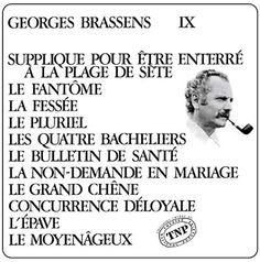 """Georges Brassens: """"Supplique Pour Être Enterré à La Plage de Sète"""" 1972"""