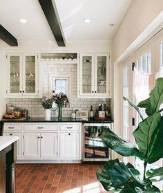 Terra cotta kitchen floors - I'm in love