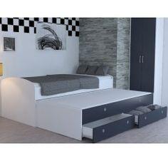 Rozkladacia posteľ Patrik Color 90x200 cm, biela/antracit Bed, Furniture, Home Decor, Decoration Home, Stream Bed, Room Decor, Home Furnishings, Beds, Home Interior Design