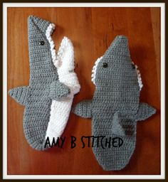 PATTERN REVIEW......A Stitch At A Time for Amy B Stitched: Crocheted Shark Slippers Pattern Review ༺✿ƬⱤღ✿༻