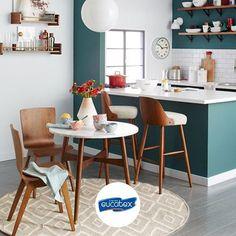 Valorize seu ambiente! Para separar a cozinha americana, nossa dica é pintá-la de uma cor diferente!  #TintasEucatex #DicaEucatex #Decoração