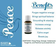 Bring inner peace, boost energy, release anxiety, and increase spiritual balance with this lovely-scented essential oil blend. #aromatherapy