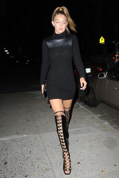Nighttime outfit inspiration || all black