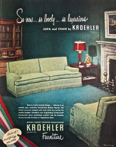 1950s Vintage Midcentury Decor By Kroehler Https Www Etsy