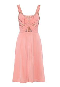 Yumi art deco embellished sun dress (£18, originally £60)