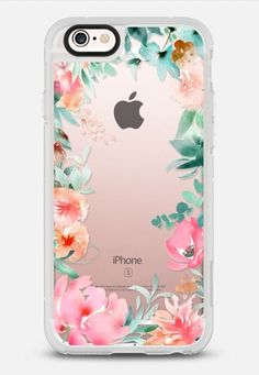 Lush Floral Watercolor Transparent by Julie Song Ink iPhone 6s case by juliesongink | Casetify