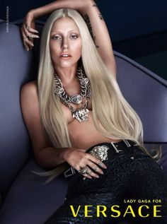 Check out the one and only Lady Gaga for Versace // #fashion #style