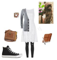 """""""A Thoughtful, Dreamy Kind of Day"""" by rubygirl645 on Polyvore featuring Paige Denim, Nina Ricci, Converse and Forever 21"""