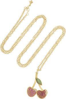 Carolina Bucci 18-karat gold multi-stone necklace | NET-A-PORTER