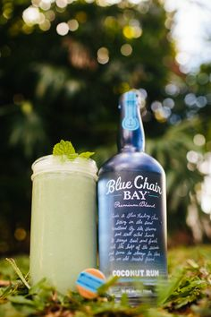FROZEN MONEY // 2 oz. Blue Chair Bay Coconut Rum + 1.5 oz. pineapple juice + 1 oz. limeade + 8 mint leaves + mint sprig for garnish // Add ingredients directly to a blender with ice and blend until smooth. Pour into glass or cup.