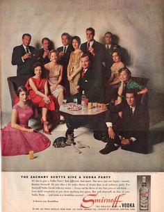 1959 Advertisement for Smirnoff Vodka. Vintage Ephemera, Vintage Ads, Create Your Own Story, Smirnoff, Magazine Art, Print Ads, Mad Men, Good Old, Back In The Day